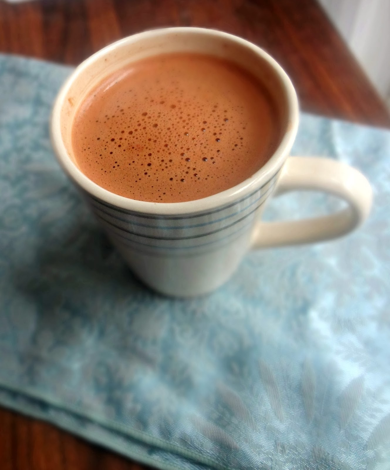 hot chocolate in a microwave for one