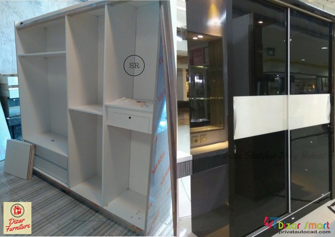 Harga lemari pakaian HPL per meter