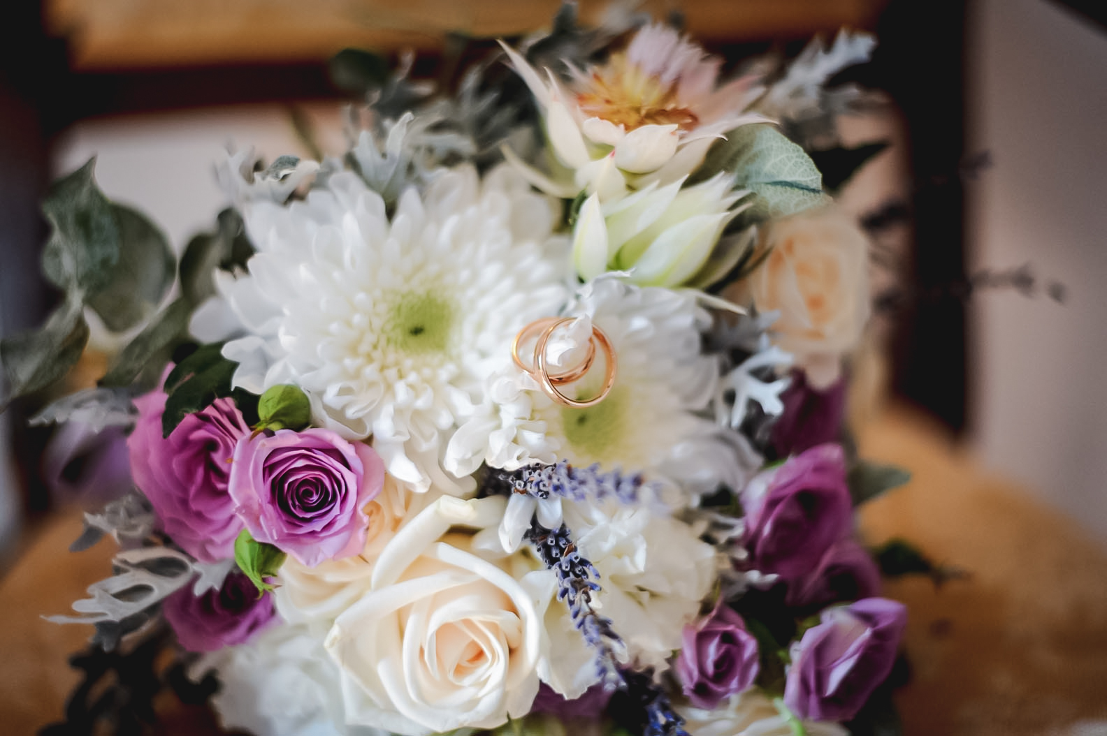 Bouquet sposa shabby lilla