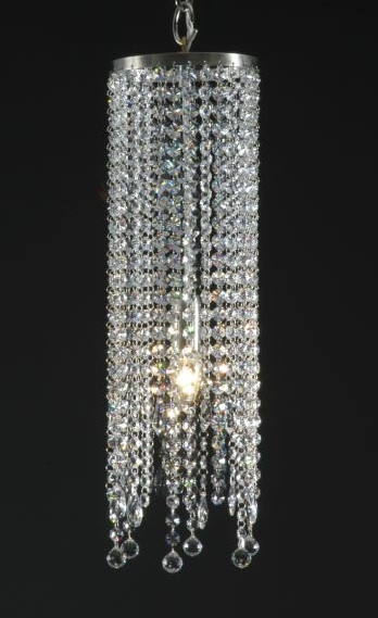 Swarovski crystals really shine when used in lighting fixtures such as  chandeliers or pendants. This pendant light from David