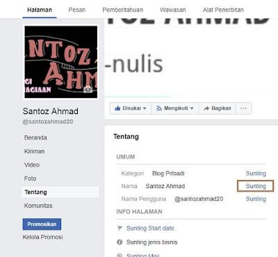 Cara Mudah Mengganti Nama Fanspage Facebook 2017