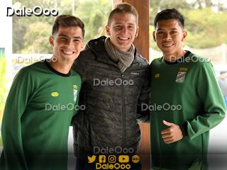 Diego Pariani junto a Pedro Marcos y Alan Mercado - Oriente Petrolero - DaleOoo