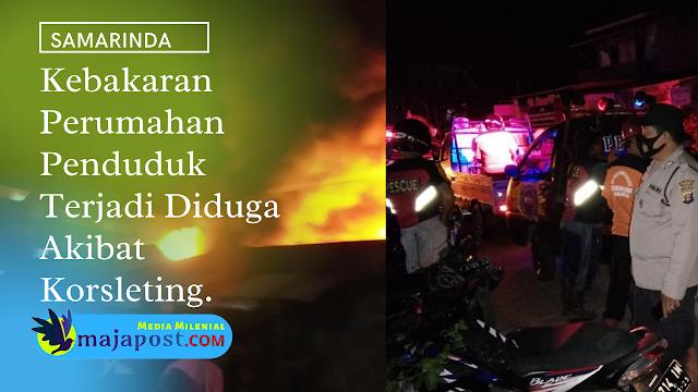 Di Tinggal Pulang Kampung Rumah Warga di Samarinda Terbakar