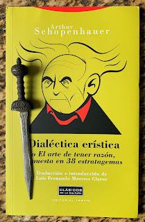 Portada del libro Dialéctica Erística, de Arthur Schopenhauer (edición en español, 2011)