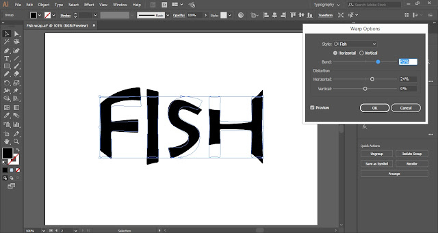 Wrap Text in Fish Shape in Adobe Illustrator