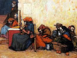 Nonell: Pobres esperando la sopa.1899