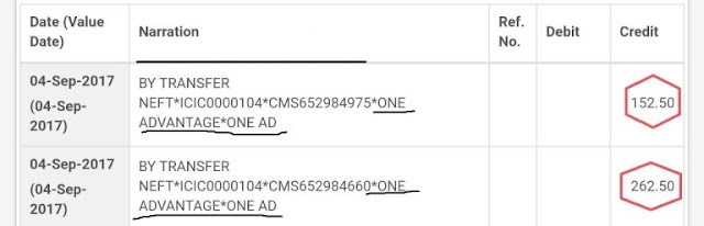 ONEAD PROOF WITH BANK WITHDRAW