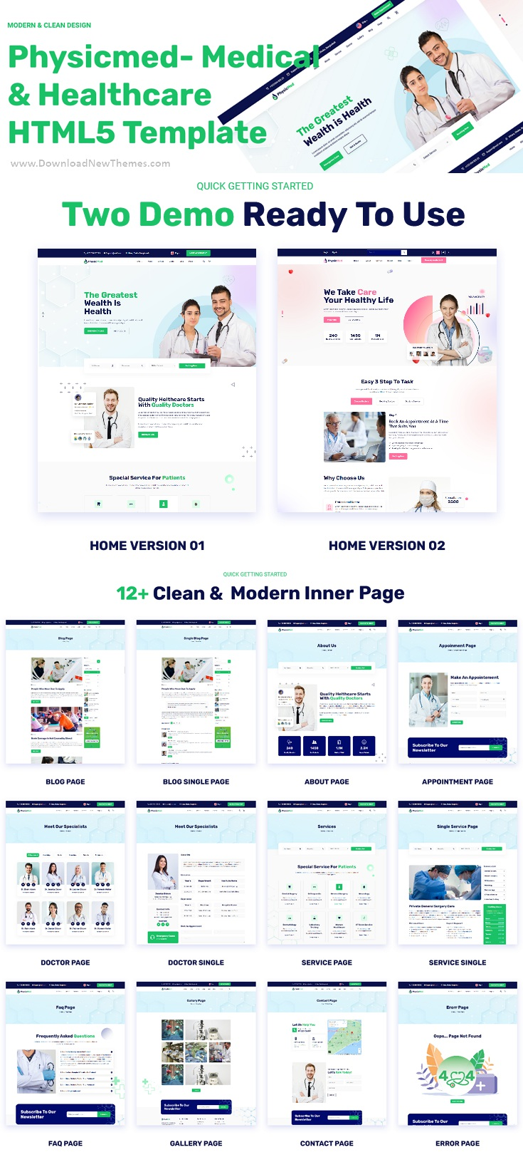 Physicmed - Medical & Healthcare HTML5 Template