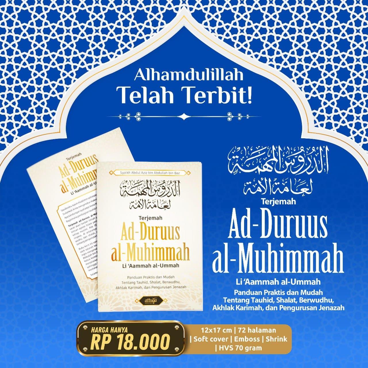 Buku Terjemah Ad Durusul al Muhimmah Attuqa