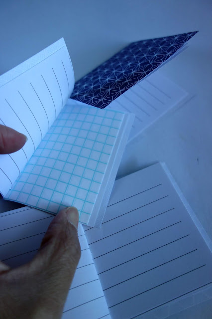 graph paper, notebook paper, how to recycle paper into small notebooks