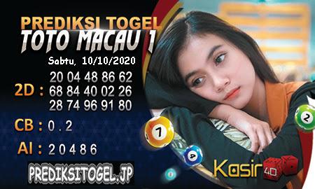 Prediksi Kasir4D Togel Macau Sabtu 10 Oktober 2020