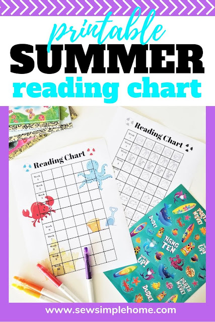 Free summer reading chart printable to track all the books they've read and keep them reading during the summer months.
