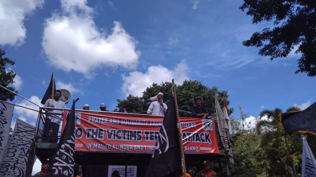 Gerak Cepat, Begini Penampakkan Massa Aksi Solidaritas Muslim Selandia Baru