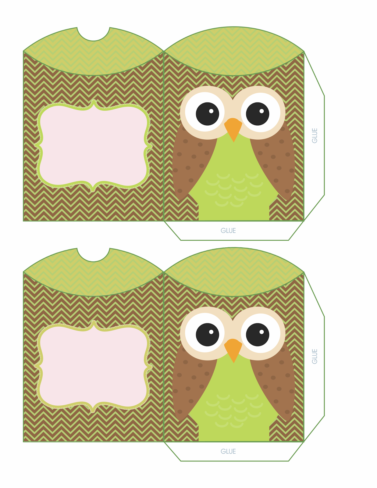 Cajas almohada con b hos para imprimir gratis oh my 15 for Owl pillow box template