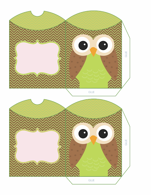 Owls For Sweet 16 Free Printable Pillow Boxes Oh My