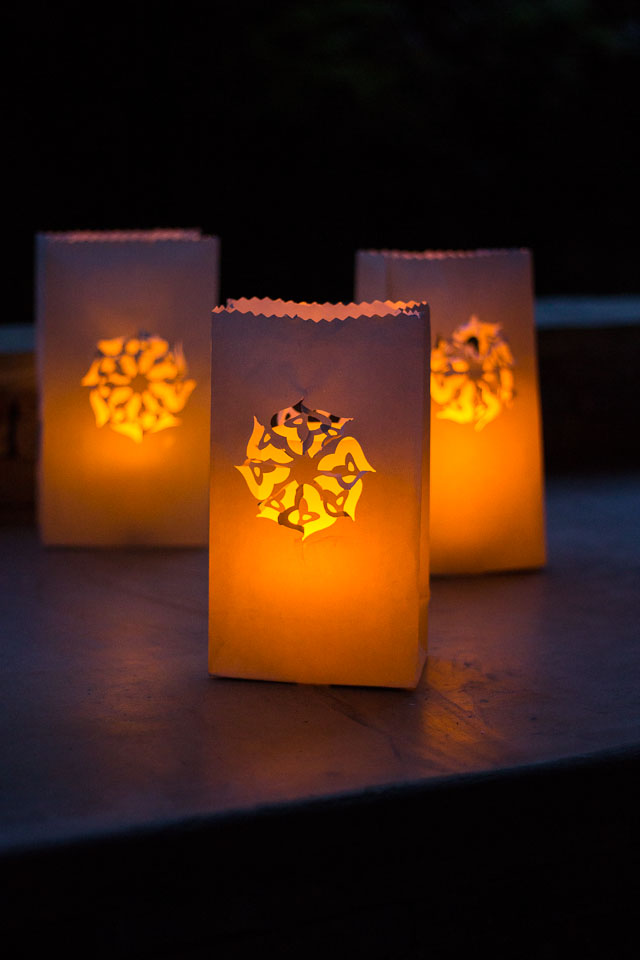 Paper Bag Luminaries You Can Make Beautiful Designs In Minutes Simply By Using A