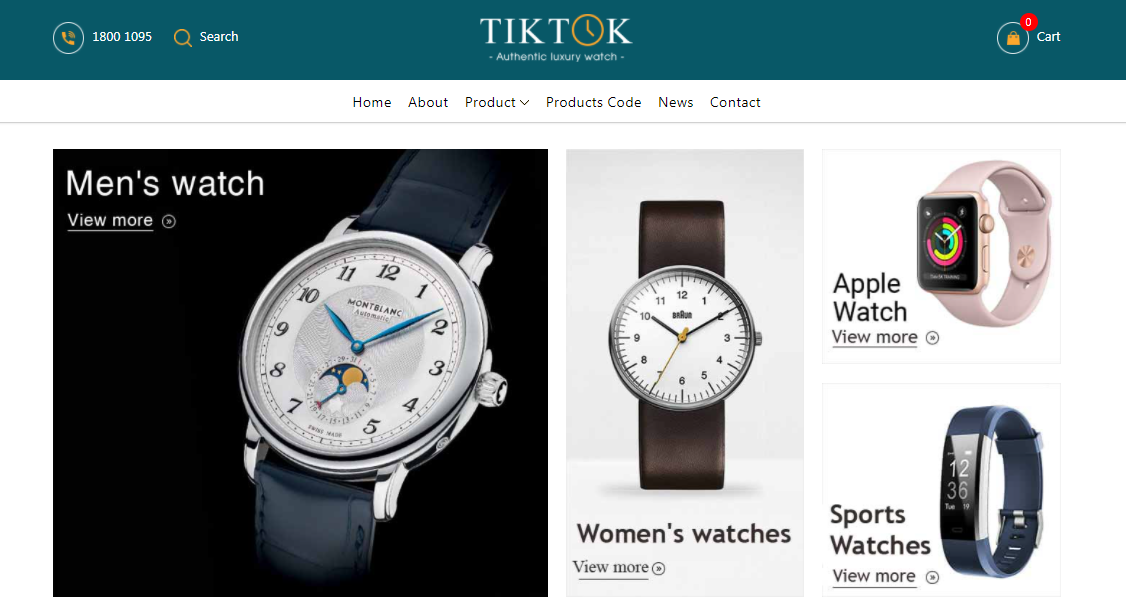 TikTok Watch - Ecommerce Blogger Template