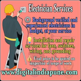 All type Home Electrical Wiring Services in Pune & PCMC Areas - Pimple Saudagar,Sangvi,Navi Sangvi, Aundh,Baner, Pimpri Chinchwad. If you're hiring for  Any type of Electrical work, lighting maintenance and Repairing Also Control lighting systems in Home, Office & Factory Just Call on Doors Steps Services Available.