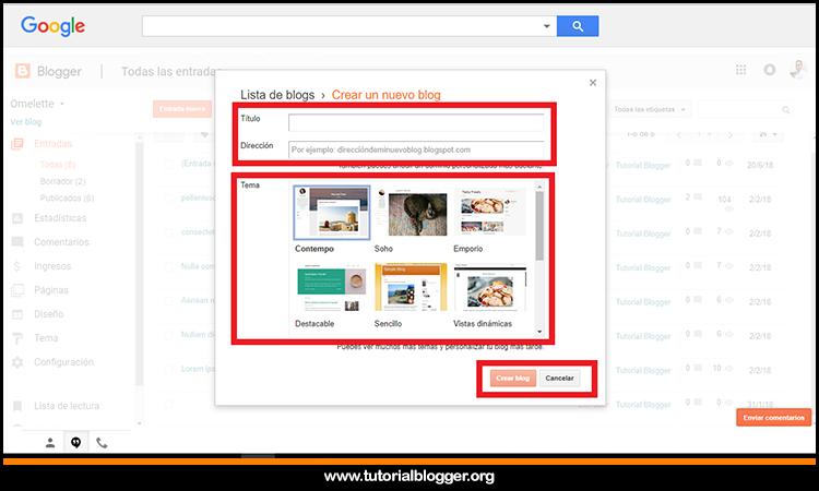 como crear un blog gratis en google