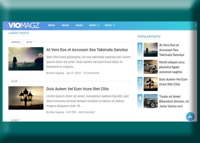 Viomagz Template Blogger Populer Valid AMP