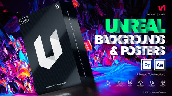 VideoHive Unreal I Backgrounds and Posters Free Download