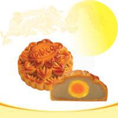 Bánh trung thu Bibica - đậu xanh 1 trứng 120g