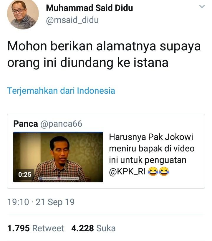 Jejak Digital Jokowi Terungkap, Said Didu Lontarkan Sindiran Maut