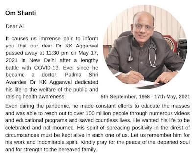 Dr K K Aggarwal @DrKKAggarwal
