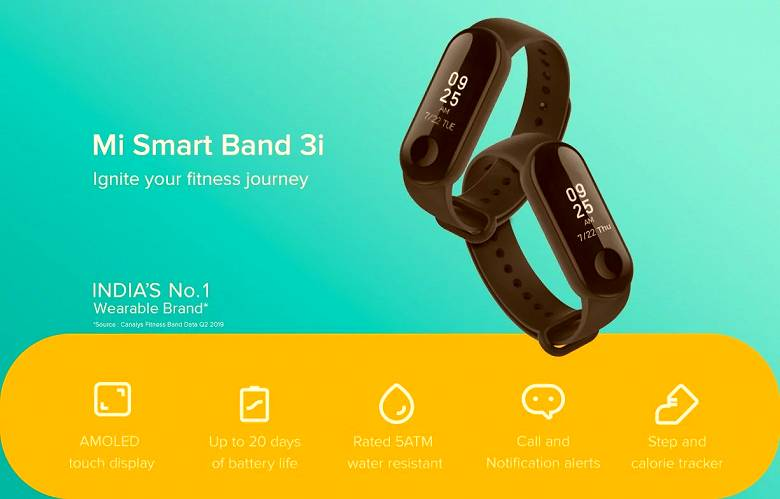 Xiaomi introduced the most affordable fitness bracelet
