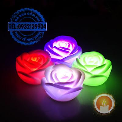 Đèn led đổi màu hình bông hồng