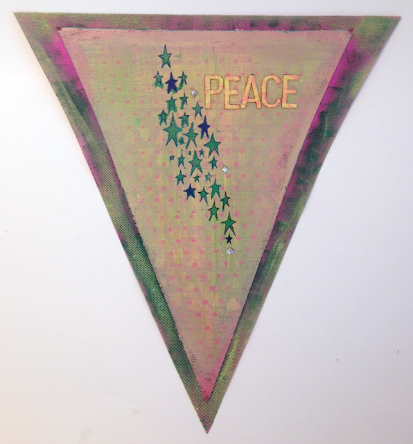 joy letters peace flag