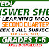 WEEK 8- ANSWER SHEETS FOR SLM Q2 GRADES 1-6