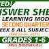 WEEK 8- ANSWER SHEETS FOR SLM Q2 GRADES 1-6