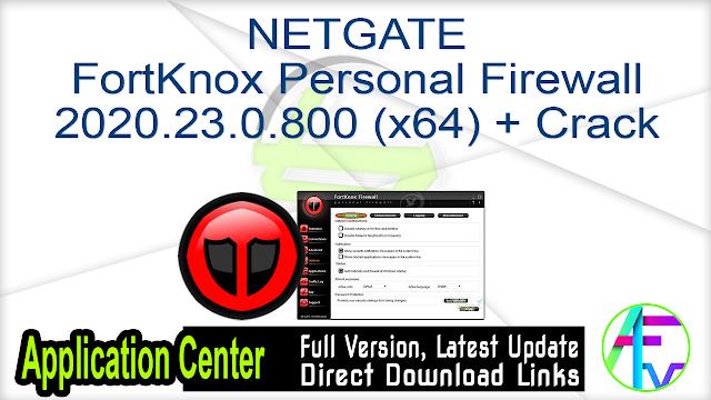 NETGATE FortKnox Personal Firewall 2020.23.0.800 (x64) + Crack