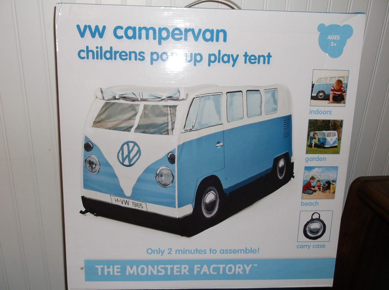 If you are wanted to find a way to keep your kids busy this summer what great way to do so with The Monster Factory VW C&er Van Play Tent. & Missys Product Reviews : The Monster Factory Blue VW Camper Van ...
