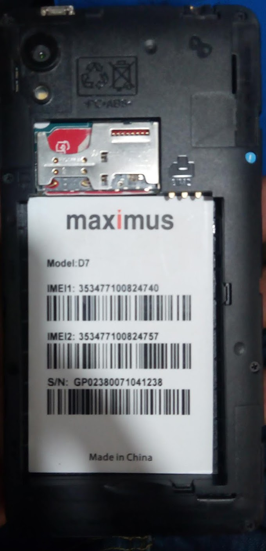 MAXIMUS D7 FLASH FILE FIRMWARE STOCK ROM
