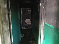В Сухом Логу по ул. Юбилейная произошёл пожар в одной из квартир муниципального жилого дама.
