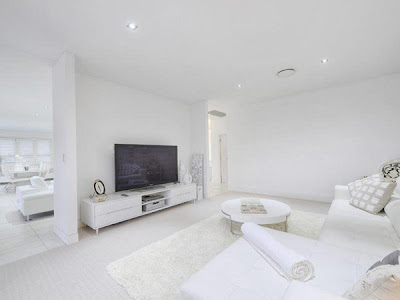 Completely white home design, Queensland, Australia