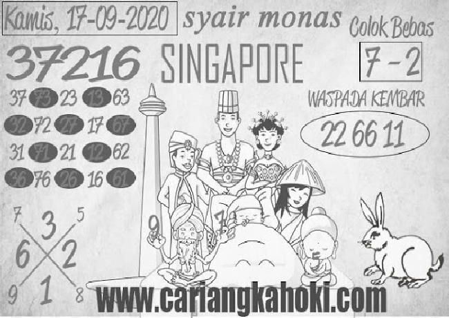 Kode syair Singapore Kamis 17 September 2020 167