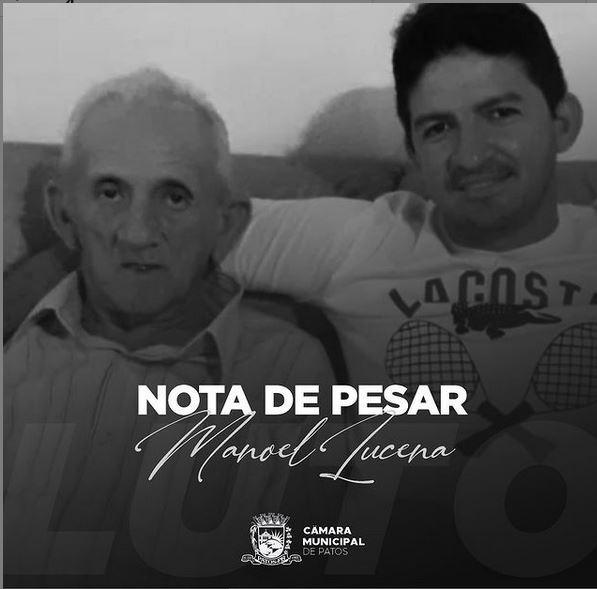 Câmara Municipal de Patos-PB, publica Nota de Pesar