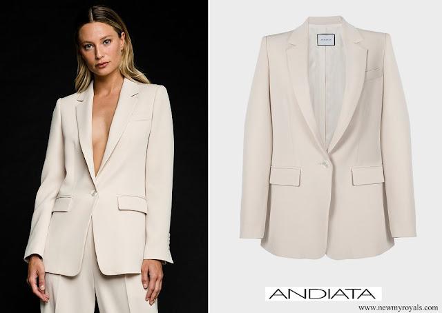 Crown Princess Victoria wore ANDIATA jane blazer