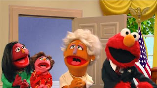 Elmo the Musical President the Musical. Elmo imagines he's President of the United States. Sesame Street Episode 4417 Grandparents Celebration season 44