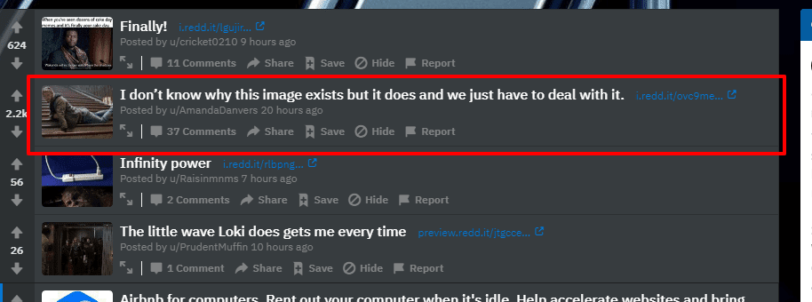 Reddit Popular Thread
