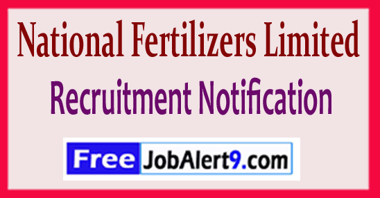 NFL National Fertilizers Limited Recruitment Notification 2017