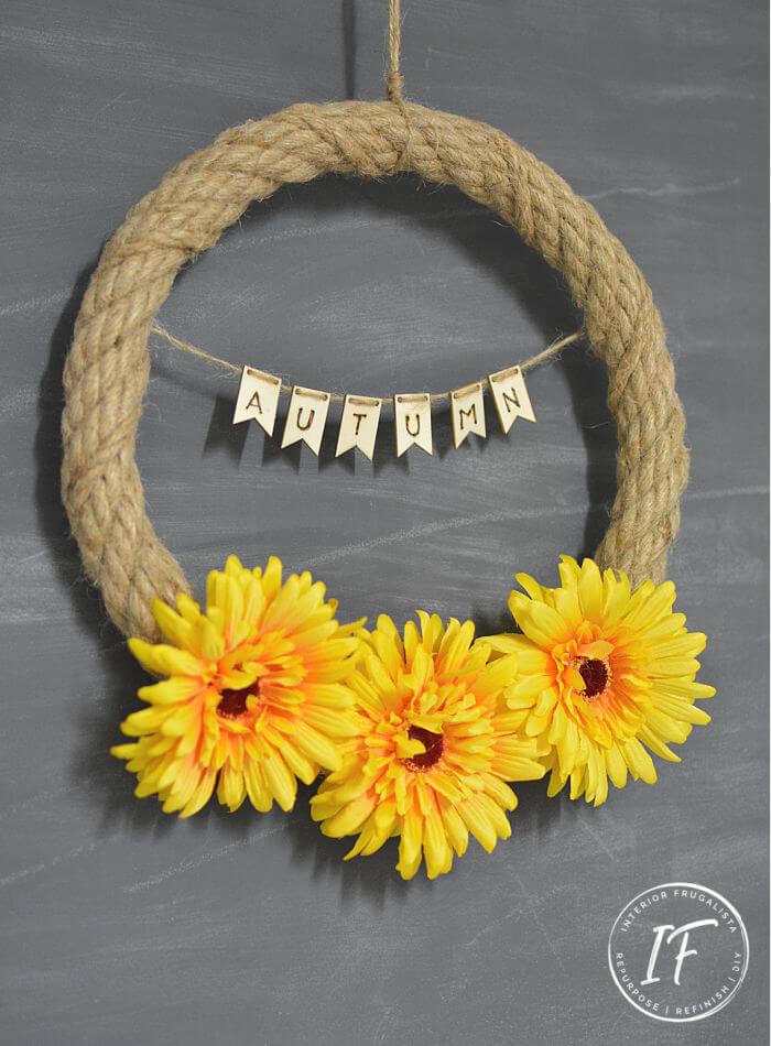 Simple Fall Rope Wreath