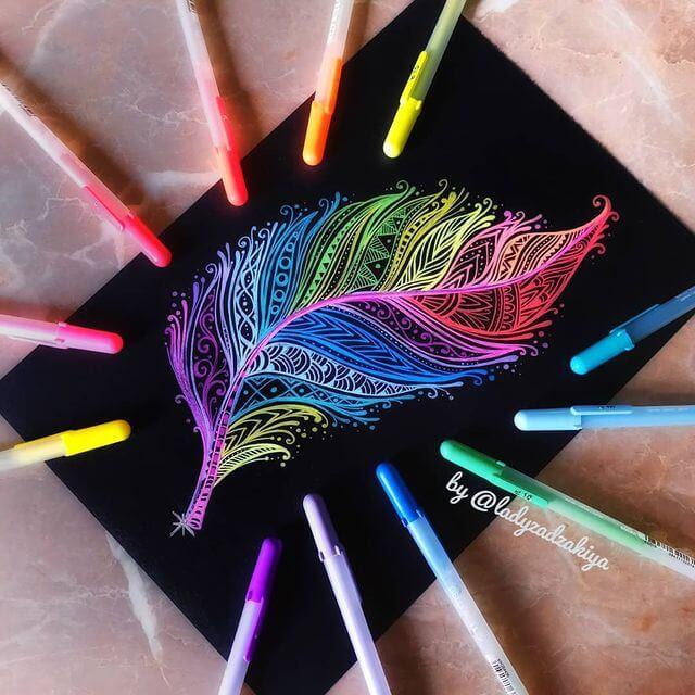 04-Multi-colored-feather-ZSH-www-designstack-co