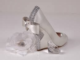 Silver bridal footwear