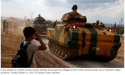 Turkish President Warns to Deploy Heavy Weaponry against Syrian Military