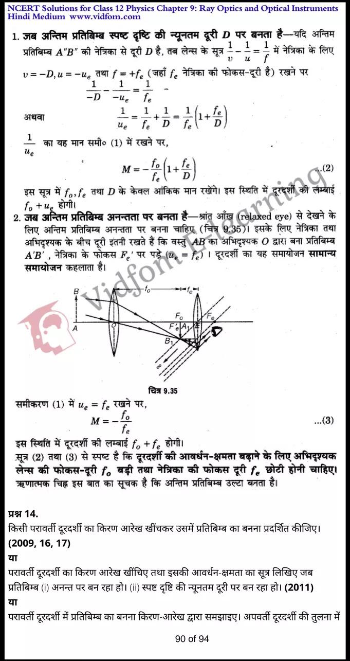 class 12 physics chapter 9 light hindi medium 90