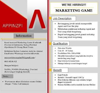 Marketing Game Online Appinzpire